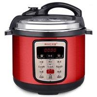 Fornitura di riso 6L Multifunzione Acciaio inossidabile Acciaio inossidabile Fornello a pressione elettrica Controllo digitale Multicooker Steamer Slow Cooking 220v1
