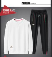 2021SS 유럽 및 미국의 뜨거운 새로운 봄 정장 남자 자수 패션 레저 2 조각 세트