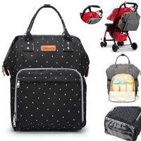 Mode Maman Maternity Nappy Sac Poussette Crochets Grand Capacité Baby Diaper Sac Voyage Sac à dos Designer Soins infirmiers bébé Care1