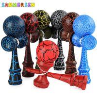 Регулярные Kendama Chrome Professional Balls Деревянные игрушки Открытый умелый жонглирование мяч Стресс мяч Образование Игрушка для детей 18 см Y200428