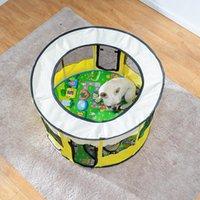 휴대용 애완 동물 텐트 울타리 주택 개집 접이식 Playpen 실내 강아지 케이지 둥지 개 상자 배달 룸
