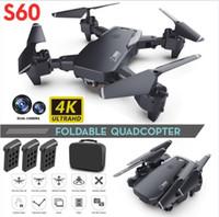 2020 Nuovo Drone 4K Professione Telecamera grandangolare HD 1080p WiFi FPV Drone Dual fotocamera Altezza Tenere premuto Drones Fotocamera Elicottero giocattoli
