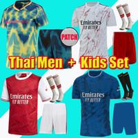 الكبار Kids Kit Arsen Soccer Jersey 20 21 Pepe Saka Nicolas Ceballos هنري جوينديزي Sokratis Mailes-Niles Tierney 2020 2021 Football Kit