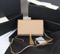 Kadın Cüzdan Lüks Tasarımcı Çanta Kate Çanta Hakiki Deri Zincir Omuz Çantası Yüksek Kalite Püskül Çanta 20 cm