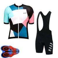 Maap Takımı Erkek Bisiklet Jersey Set Bisiklet Giyim Yaz Kısa Kollu Jersey Önlüğü Şort Yol Sürme Suit Sportwear Ropa Ciclismo S120512