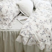 New garden pastoral bedding set European embroidery ruffle l...