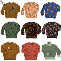 Kinder Pullover 2019 Carlijnq Brand New Herbst Winter Jungen Mädchen Vogeldruck Sweatshirts Baby Kind Mode Outwear Kleidung Tops LJ201128