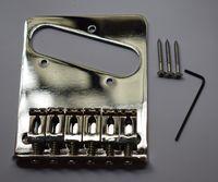 テレカスターテレエレクトリックギターのためのChrome 6 Flateスタイルのサドルブリッジ