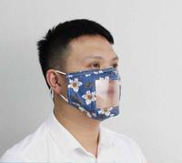Masken LiP Sprache Atemschutzer transparentes Fenster sichtbare Mundabdeckung taub Stummschmasse Waschbare Gesichtsmasken Outdoor Baumwolle Schutzmaske CCF20
