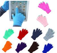 Männer / Frauen Winter Touchscreen Handschuhe für Smartphone Tablet Full Finger-Mitte Frei Beitrag zur Welt