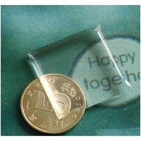 "100 pcs 1 ""Soft Epoxy adesivos altamente transparente 25.4mm quadrado rótulo de resina de cristal de cristal auto adesivo nunca amarelada OEM Bem-vindo QV29Y"