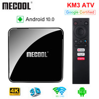 Certifié Google AndroidTV TV BOX KM3 ATV Android 10.0 4G / 64G AMLOGIC S905X2 Bluetooth Controller 2.4 / 5G WiFi Streaming 4K Media Player