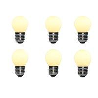 Liiiiiartman 5W Светодиодная лампочка G45, E27 Base Matt Opal Теплый белый 2500K CRI95 350LM, эквивалент 40W Edison (6-пакет)