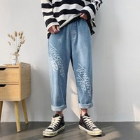 Jeans Menores inosossan Streetwear Japonés Hombres Letra Floja Impreso Demin Top Calidad Marca Hip Hop 2021 Trend Fashion1