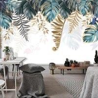 Пользовательские большие росписиные обои для стен 3d банановый лист спальня гостиная столовая фон фон дома украшения фото стена бумага1