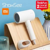 Xiaomi Mijia Showsee A1-W Anion مجفف شعر كهربائي سلبي أيون العناية بالجنود السريع جاف المنزل 1800W مجفف الشعر المحمولة الناشر ثابت
