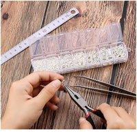 Schmuckherstellung Kit Offene Sprungringe Hummer-Verschlüsse Ohrring Haken Crimpperlen für DIY Schmuckherstellung liefert Legierung ACC Qylkcn