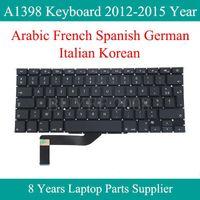 A1398 Klavye Pro Retina A1398 Arapça Fransızca İspanyolca Almanca İtalyan Kore Klavye Değiştirme 2012 2013 2014 20201