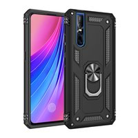 Aomor Hybrid Phone Cases voor Vivo NEX / S A X21 23 27 15 PRO Y17 / Y15 / Y12 Y53-2017 Y67 69 X20 Plus TPU-pc met kickstand achterkant
