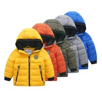 Honey King Down's Down Coat Baby Boy Boys Girls Winter Warm Plus Velvet Hood Fillding Chaqueta Niños Niños Chaqueta Outwear Y1208