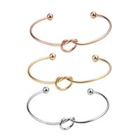 5 قطعة / الوحدة جودة عالية الشرير الأزياء الفولاذ الصلب عقدة القلب قابل للتعديل الكفة أساور المعصم ل diy الإسورة الحرفي صنع المجوهرات