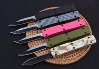 5 colores Volver Push Mini Key Hebilla Automático Auto EDC Cuchilla de bolsillo Cuchillos de aluminio Regalo de Navidad Cuchillo A2076