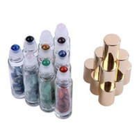 Natural Semiprecious Stones Essential Oil Gemstone Roller Ba...