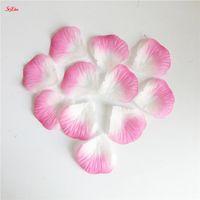 장식 꽃 화환 500pcs / 세트 인공 실크 웨딩 장미 꽃잎 파티 액세서리 레드 6Z SH012-500