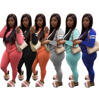 Sweatshirts + Leggings Deux PC Set Fall Winter Sportswears à manches longues Tenue à manches longues Vêtements Plain Joggers costume 3888