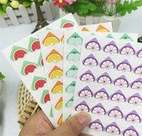 24 Aufkleber / Blatt DIY Obst Cartoon Fotoecke Nette Papieraufkleber für Fotoalben Ausgezeichnete Handarbeit Rahmen Dekoration Scrapbooking Set