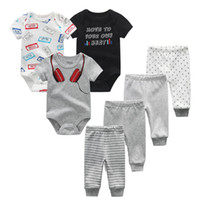 /// Лот дизайнер новорожденного мальчика одежда костюм 100% хлопок детская одежда ROPA Bebe брюки малыша одежда для одежды LJ201223