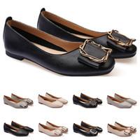 dames Chaussures plates taille lager 33-43 femmes fille nue en cuir gris noir Nouveau arrivel mariage Groupe de travail chaussures robe vingt et un