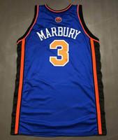 Дешевые пользовательские ретро Стептон Марбери 3 Swingman Баскетбол Джерси Джерси Джерси сшитый любой размер 2xs-5XL и номер бесплатная доставка высочайшего качества
