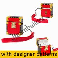 Diseñador Aripods Pro Cases Inalámbrico Bluetooth Auriculares Funda protectora Moda Creativo Airpods 1/2 Caso Color Color Láser CSDE