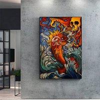 Badfish Surf Sublime Pesce Canvas Stampato Pittura Moderna arte della parete Poster per l'arredamento del salotto