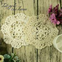 DIY 24pcs Coton Fait à la main en Crochet Doilies Crochet Tapis Mat Pad Coaster Vintage Crochet Snowflake Motifs 16-18cm C1210