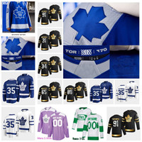 Mulher Toronto Maple Leafs Joe Thornton 2020-21 Reverse Retro Jersey 34 Auston Matthews John Tavares Frederick Andersen William Neland Rielly