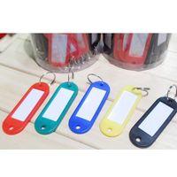 Lot von 500 Kunststoff-Key-ID-Etiketten-Tags mit Schlüsselanhänger Split-Ringe Freies Verschiffen