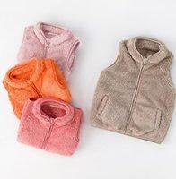 Kinder Baby Junge Mädchen Sherpa Fleece Weste Jacke Kinder Plüsch Flauschige Weste Sleeveless Westen Mantel Windjacke Warme Jacken Top E120805