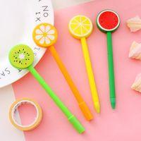 Lemon Fruit Ballpoint Caneta Creative Gel Caneta Dos Desenhos Animados Caneta Esferográfica Fruta e Vegetal Forma Ballpoint Pens