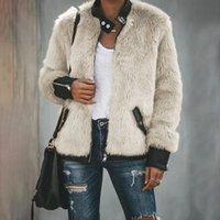 2020 겨울 혼합 토끼 모피 코트 여성 따뜻한 지퍼 자켓 새로운 여성 캐주얼 겉옷