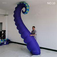 3M Lengte Gratis Verzending Aangepaste Opblaasbare Kunst Octopus Tentacle Inflatables Buis voor Nachtclub Plafonddecoratie