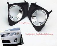 2pcs Kit Car Front Left + Right Bumper Fog Light Lamp Frame Cover Grille Trim Fit for Toyota Corolla 2010-2013