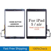 Для iPad Air 1 iPad 5 GEN Стенс с сенсорным экраном стекло с наклейкой домашней кнопки A1474 A1475 A1476 Замена панели