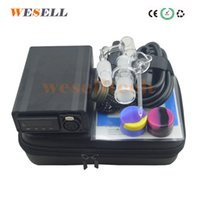 Wesell Cuarzo portátil E Nail Box Kit Enail Pid Controller Controller Rig Glass para calentador de cera Envío libre por DHL