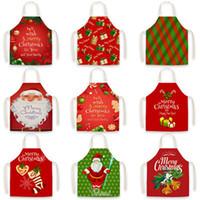 partido festival de los regalos de la decoración de Navidad Feliz Navidad dibujos animados de Navidad Delantal delantales Santa Claus cocina delantales IIA895