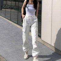 Женские брюки Capris Weech Count Captle Mapocket Beatwork Cargo Женщины Streetwear Высокие талии Брюки 2021 Модный карандаш Joggers1