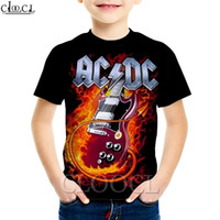 4 To 13 Years Kids Guitar Teen Idol Rock Band AC DC Hoodie 3D Print T Shirt Boy Girl Sweatshirt Baby Fashion Shorts Clothing 201128