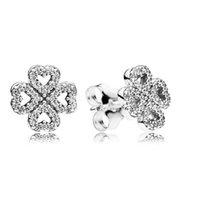 925 Sterling Silber Ohrringe Diamant Ohrstecker für Frauen Designer Ohrring für Pandora-Stil mit Originalkasten