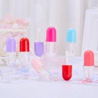 3 мл мини милый портативный капсула губная помада трубки розовые колпачки губные пробирки с палочками DIY косметические контейнеры пустые бутылки